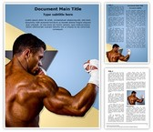Kick Boxer Kickboxing Template