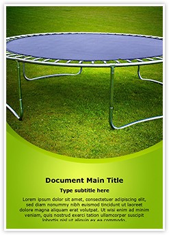 Trampoline Editable Word Template