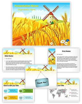 Rural Scenery Editable PowerPoint Template