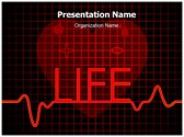 Medical Cardiogram Abstract PowerPoint Templates