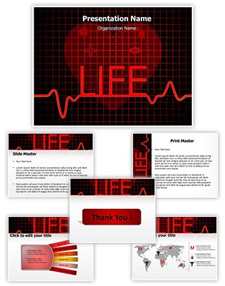 Medical Cardiogram Abstract Editable PowerPoint Template