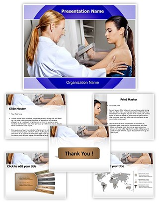 Mammogram Test Editable PowerPoint Template