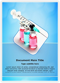 Vaccine and Syringe Editable Word Template
