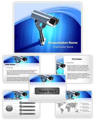 Security Camera Editable PowerPoint Template