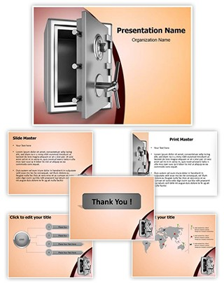 Security metal safe Editable PowerPoint Template