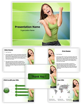 Winning Happiness Editable PowerPoint Template