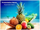 Fresh Fruits and Beach PowerPoint Templates