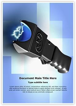 Stun Gun Editable Word Template