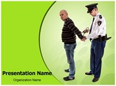 Police Arrest Editable PowerPoint Template