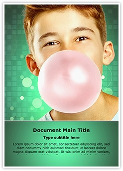 Chewing Gum Editable Word Template