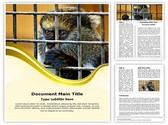 Monkey in Cage Editable Word Template