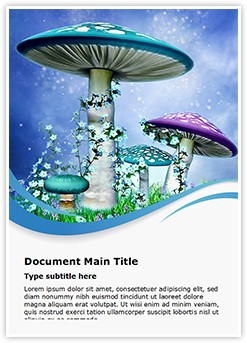 Mushrooms Editable Word Template