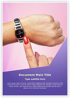 Woman Wrist Watch Editable Word Template