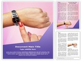 Woman Wrist Watch Template