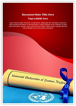 Human Rights Editable Word Template