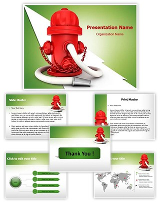 Fire Hydrant Editable PowerPoint Template
