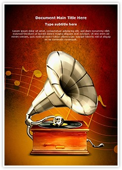 Gramophone Editable Word Template