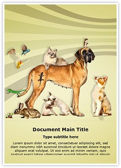 Animals Pets Editable Word Template