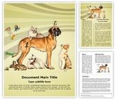 Animals Pets Editable Word Template