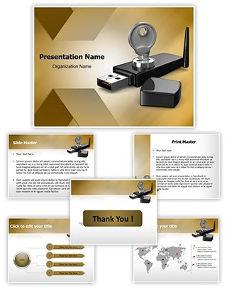 Wifi Security key Editable PowerPoint Template