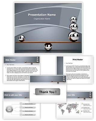Balancing balls Editable PowerPoint Template