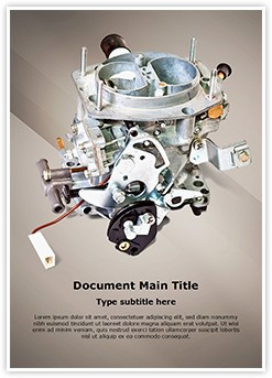 Carburetor Editable Word Template