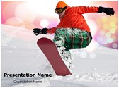 Snowboarder Editable PowerPoint Template