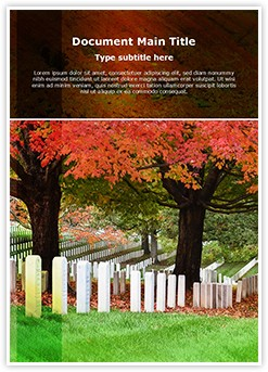 Cemetery Editable Word Template