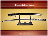 Japanese Samurai Sword Editable PowerPoint Template