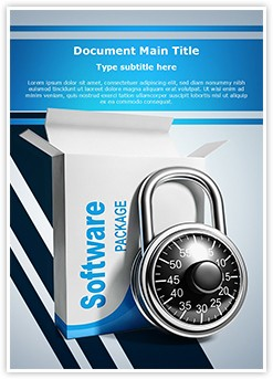 Licensed Software Editable Word Template