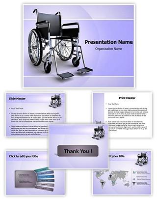 Wheelchair Editable PowerPoint Template
