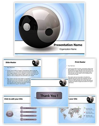 Ying Yang Symbol Editable PowerPoint Template