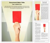Referee Penalty Red Card Template