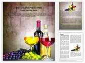Grapes Wine Editable Word Template