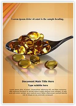 Vitamin Oil Capsules Editable Word Template