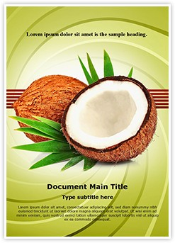 Coconuts Editable Word Template