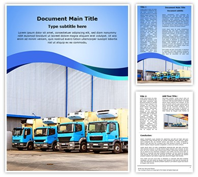 Warehouse Truck Editable Word Document Template