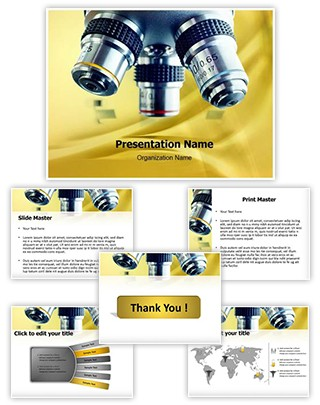 Laboratory Microscope Editable PowerPoint Template