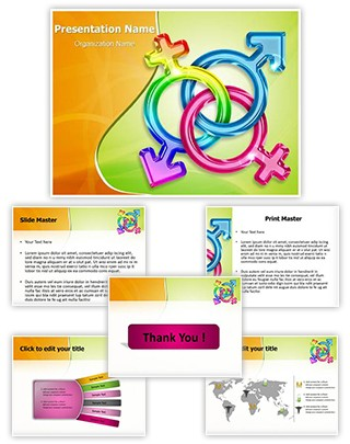 Trans Gender Editable PowerPoint Template