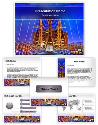 Salford Quays Lift Bridge Editable PowerPoint Template