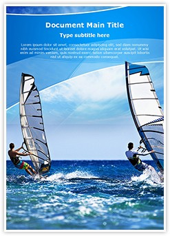 Windsurfing Editable Word Template