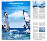 Windsurfing Editable Word Template