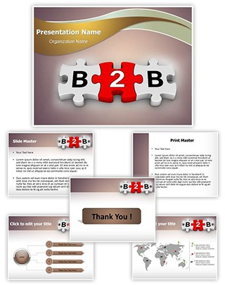 B2B Puzzle Editable PowerPoint Template