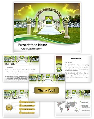 Wedding Arrangement Editable PowerPoint Template