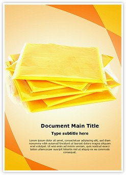 American Slice Cheese Editable Word Template