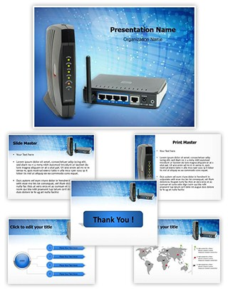Wifi Technology Editable PowerPoint Template