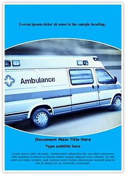 Emergency Ambulance Editable Word Template