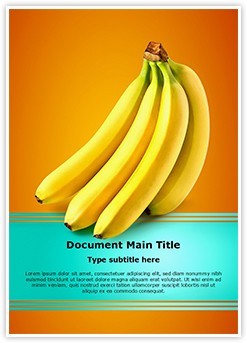Bananas Fruit Editable Word Template