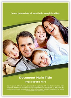 Smiling Family Editable Word Template