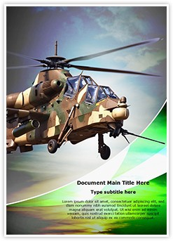 Attack helicopter Editable Word Template